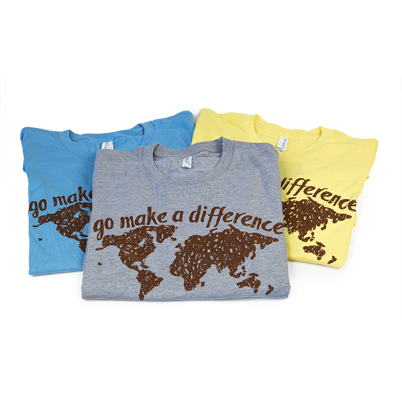 go make a difference world tshirt